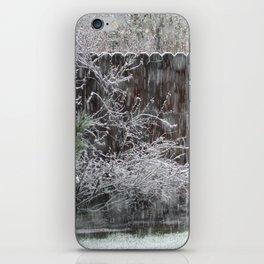 snowing iPhone Skin