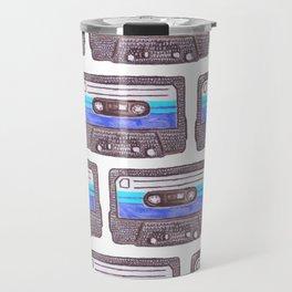 Cassette Pattern *Dark Blue Travel Mug