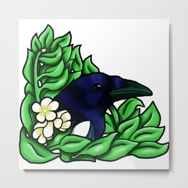 Magpie in the Bush Metal Print