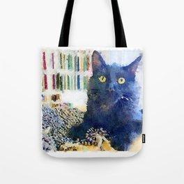 Alfred Watercolor Tote Bag