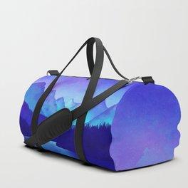 Cerulean Blue Mountains Duffle Bag