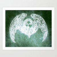 winged creatures 2 Art Print
