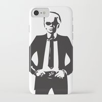 karl lagerfeld iPhone & iPod Cases featuring Karl Lagerfeld by Joanna Theresa Heart