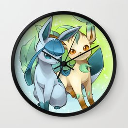 Leafeon & Glaceon Wall Clock