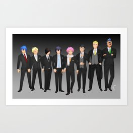FT boys suits Art Print