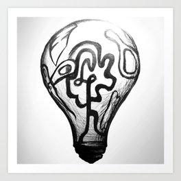 Light bulb Art Print