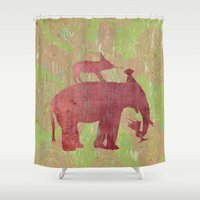 party Shower Curtains featuring Party by Last Call