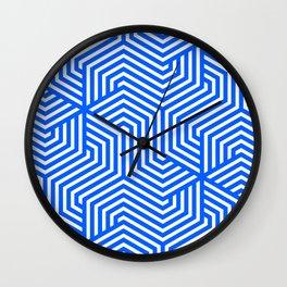 Minimal Vector Seamless Pattern - Absolute Zero Wall Clock