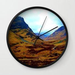Glencoe, Scottish Highlands, in the Autumn Wall Clock
