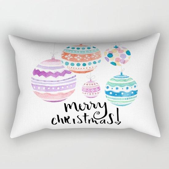 Christmas Ornament Rectangular Pillow