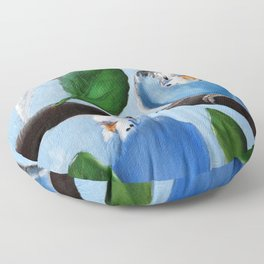 Spinach Tree Parakeet Painting Floor Pillow