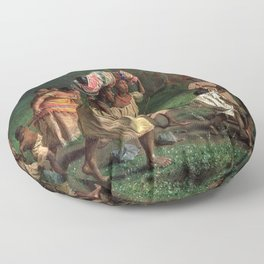 African American Masterpiece 'Emancipation or On to Liberty' by Theodor Kaufmann Floor Pillow