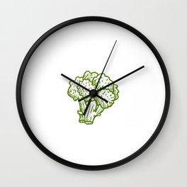 Fueled By Broccoli Vegan Vegetarian Vegetable Wall Clock
