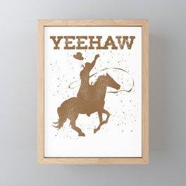Cowboy Yeehaw Framed Mini Art Print