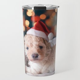 Santa Dog (Color) Travel Mug