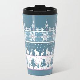 Retro .Christmas . Travel Mug