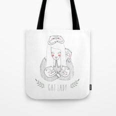 cat lady Tote Bag
