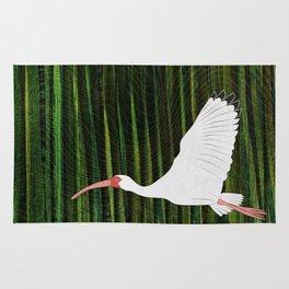 American White Ibis In Flight Rug