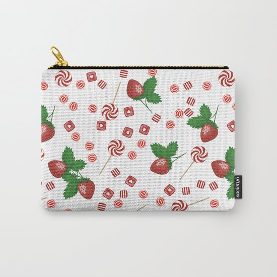 Candy lollipops Strawberry sweets Carry-All Pouch
