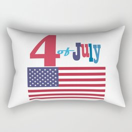 4th of July Happy Independence Day Patriotic American flag & stars Rectangular Pillow