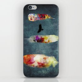 Three Feathers And A Bird iPhone Skin