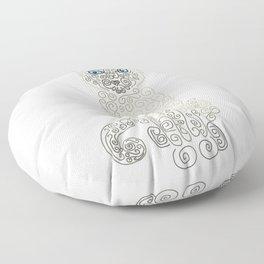 Swirly Siamese Cat Floor Pillow