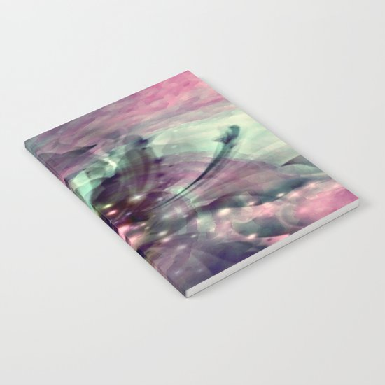 Mauve Swirl Abstract Notebook