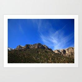 Wyoming Mountain Range 2009 Art Print