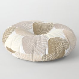 Sea Shells Pattern in Beige and Cream Floor Pillow