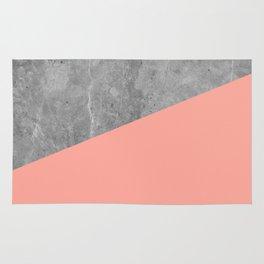 Coral Pink Concrete Rug