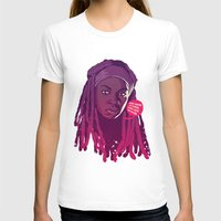 walking dead T-shirts featuring THE WALKING DEAD - Michonne by Mike Wrobel
