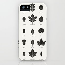European Tree Leaves iPhone Case