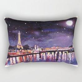 Paris at Night Rectangular Pillow