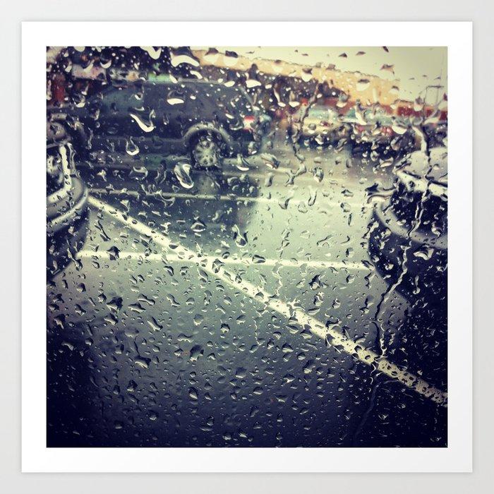 Sunday's Society6   Rain photo art print