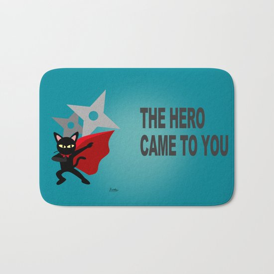 The hero came Bath Mat