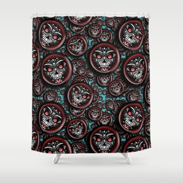 Cute Skull Maori Shower Curtain