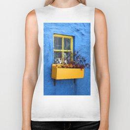 FLOWER - BOX - YELLOW - BLUE - WALL - PHOTOGRAPHY Biker Tank