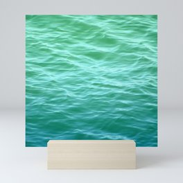 Teal Sea Mini Art Print