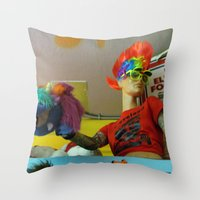 cleveland Throw Pillows featuring Cleveland Rocks by Nevermind the Camera