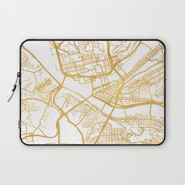 PITTSBURGH PENNSYLVANIA CITY STREET MAP ART Laptop Sleeve