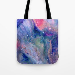 Layers,  Abstract Fluid Acrylic Pour Tote Bag