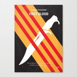 No288 My Rambo First Blood minimal movie poster Canvas Print