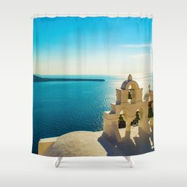 Church in Oia,Santorini Shower Curtain