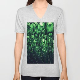 Green Bottles Unisex V-Neck