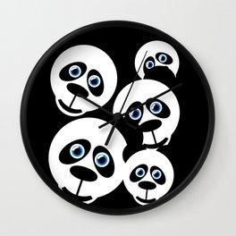 Panda-Monium!!! Wall Clock