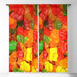 red orange yellow colorful gummy bear Blackout Curtain