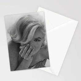 Marylin Monroe bed Poster, High Quality Print Stationery Cards