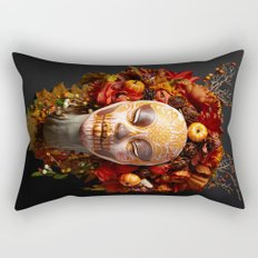 Pumpkin Harvest Muertita Rectangular Pillow