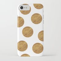 polkadot iPhone & iPod Cases featuring GOLD POLKADOT 2 by wlydesign