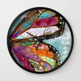 Woodland Butterfly Wall Clock